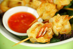 Shrimp Skewers Stock Photo