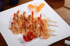 Free Shrimp Skewers 3 Stock Image - 26656071