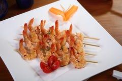Shrimp skewers 3 Stock Image