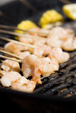 Shrimp skewers Stock Photography