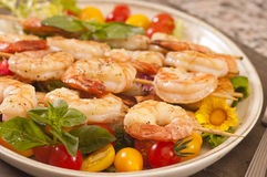 Shrimp on a skwer Royalty Free Stock Photography