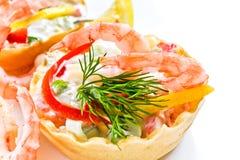 Shrimp snack stock image