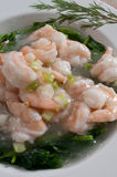 Shrimp and snow peas Royalty Free Stock Image