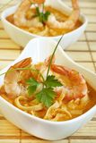 Shrimp soup Stock Photo