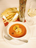 Shrimp soup Royalty Free Stock Image