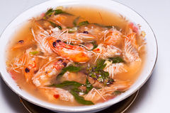 Shrimp soup Royalty Free Stock Image