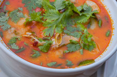 Shrimp soup,Thai food Stock Image