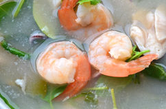 Shrimp soup, Tom Yum Goong Stock Photography
