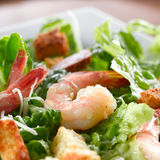 Shrimp Spinach Salad Royalty Free Stock Images