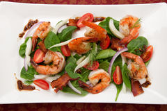 Shrimp and Spinach Salad Stock Images