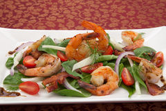 Shrimp and Spinach Salad Royalty Free Stock Image