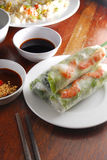 Shrimp spring roll Stock Photos