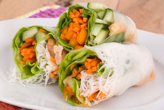 Shrimp spring roll Royalty Free Stock Photography