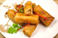 Shrimp spring rolls Royalty Free Stock Photos