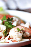 Shrimp, squid salad mixed. Royalty Free Stock Image