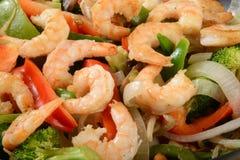 Shrimp stir fry close up Stock Photo
