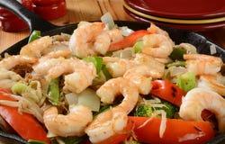Shrimp stir fry Royalty Free Stock Photography
