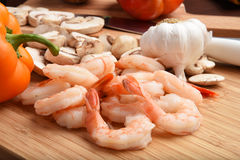 Shrimp stir fry ingredients Stock Photos