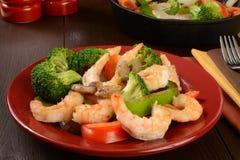 Shrimp stir fry Stock Image