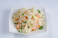 Shrimp Stir-fry Rice Stock Photo