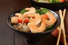 Shrimp stir fry Stock Images