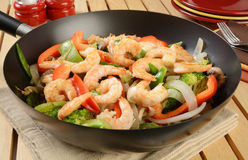 Shrimp stir fry Royalty Free Stock Images