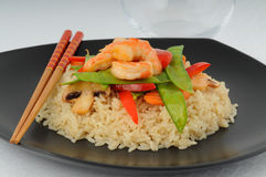 Shrimp Stirfry Stock Images