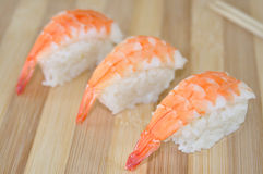 Shrimp sushi Royalty Free Stock Photography