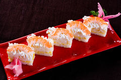 Shrimp sushi. Oyster Seafood Prepared Oysters Freshness rice stock photography