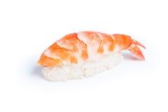 Shrimp sushi nigiri. Ebi - Shrimp sushi nigiri on white background stock photography