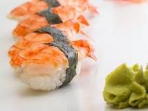 Shrimp sushi nigiri Royalty Free Stock Photo