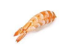Shrimp sushi. On a White background Stock Images