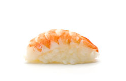 Shrimp sushi on white Royalty Free Stock Image
