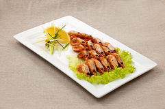 Shrimp  with sweet garlic Stock Photo