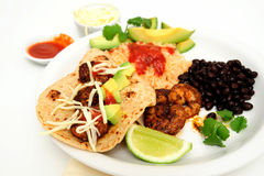 Shrimp Taco Plate Stock Photos