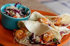 Shrimp Tacos Royalty Free Stock Photos