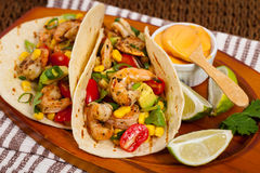 Shrimp Tacos Salsa Royalty Free Stock Images