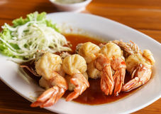 Shrimp with Tamarind Sauce Royalty Free Stock Images