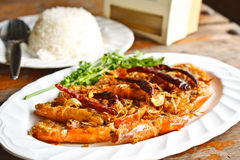 Shrimp with tamarind sauce. Royalty Free Stock Image