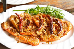 Shrimp with tamarind sauce. Stock Images