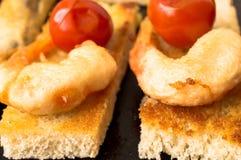 Shrimp tempura appetizer Stock Image