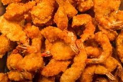 Shrimp Tempura. Large pile of popcorn shrimp tempura in buffet tray Royalty Free Stock Images