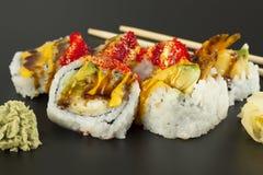 Shrimp Tempura Sushi Roll Stock Image