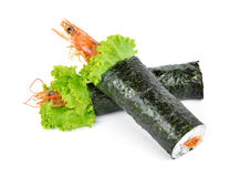 Shrimp tempura sushi roll Stock Images