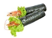 Shrimp tempura sushi roll Royalty Free Stock Photo