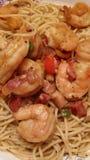 Shrimp. Thia shrimp curry noodle Food Stock Photos