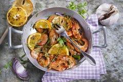 Shrimp to the stew Stock Photo