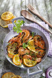 Shrimp to the stew Stock Image