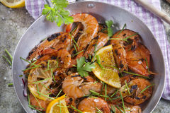 Shrimp to the stew Royalty Free Stock Photography