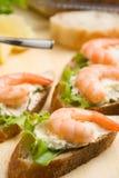 Shrimp toasts Stock Image